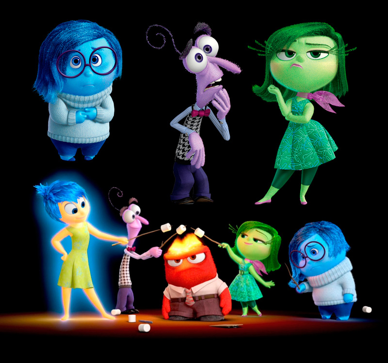 Descarga los personajes de Inside Out con fondo transparente
